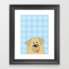 Labrador Yellow Dog Framed Art Print