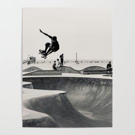 Skateboarding Print Venice Beach Skate Park LA Poster