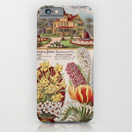 086 Tulips Hyacinthus Narcissus building flowerbed3 iPhone Case