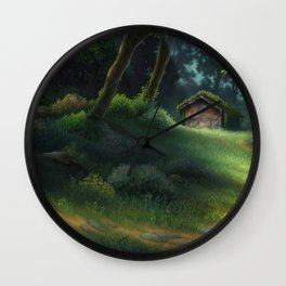 Little Forest Cottage Wall Clock