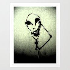 Thinking of a Head Art Print
