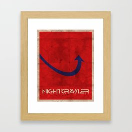 Minimalist Nightcrawler Framed Art Print