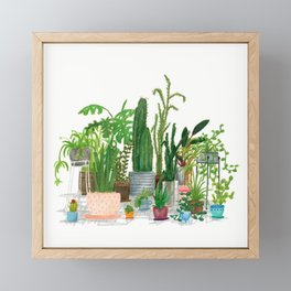 Plant Family Portrait Framed Mini Art Print