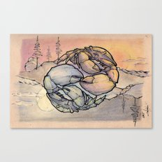 Astrology Sign - Cancer Crabs - Day & Night YinYang Canvas Print