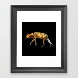 Wild African Dog. Framed Art Print
