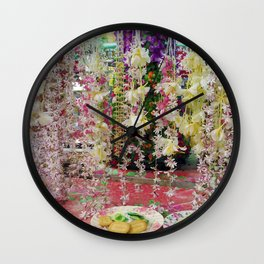 Buddhist Offerings Wall Clock