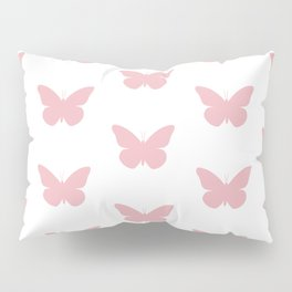 Coral Butterfly Pattern and Print Pillow Sham