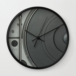 OLD SCHOOL VINYL VIBES Wall Clock