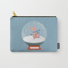 Ice Skating Pig Carry-All Pouch