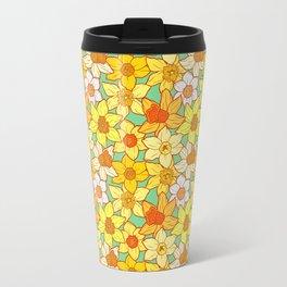 Daffodils (blue) Travel Mug