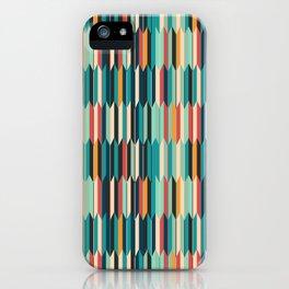 Colorful seigaiha Japanese geometric pattern iPhone Case