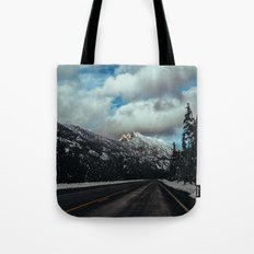 Driving in the North Cascades Tote Bag