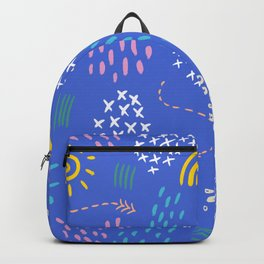 Abstract Frosting Pattern Backpack