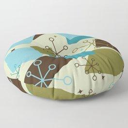 Mid Century Modern Futuro (teal) Floor Pillow