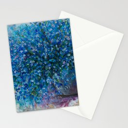 Bouquet Of Forget Me Nots by Lena Owens Stationery Cards