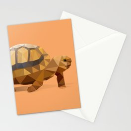 Low Poly Hermann's Tortoise Stationery Cards