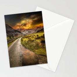 Valley Sunset Snowdonia Stationery Cards