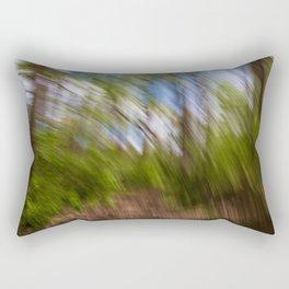 Abstract Forest Streaks Rectangular Pillow