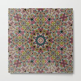 Persian kaleidoscopic Mosaic G506 Metal Print