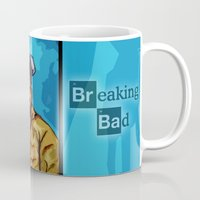jesse pinkman Mugs featuring Breaking Bad (Walter White Heisenberg jesse pinkman) by EllipsisArts