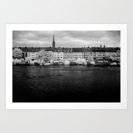 Left bank of the Main River Art Print