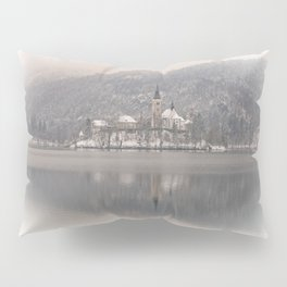 Wintry Bled Island Pillow Sham