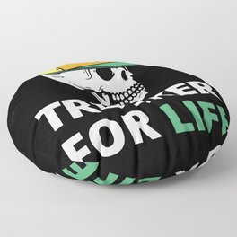 Trucker for Life Floor Pillow
