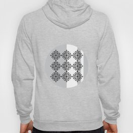 black and white pattern Hoody