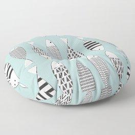 Nordic fish Floor Pillow