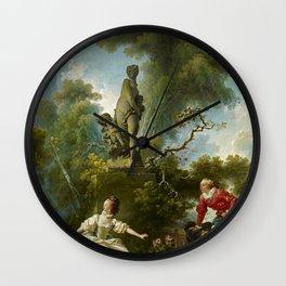 """Jean-Honoré Fragonard """"Les Progrès de l'amour - Le rendez-vous (The Progress of Love)"""" Wall Clock"""