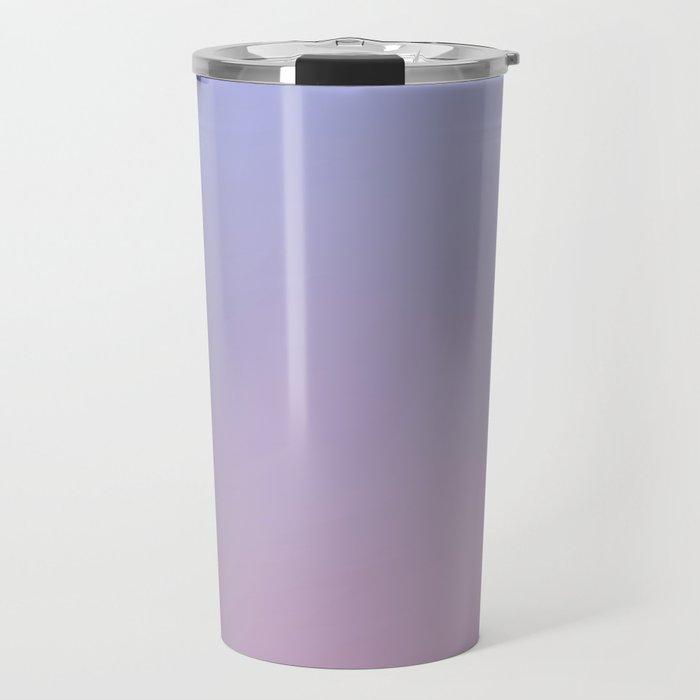 LAVENDER - Minimal Plain Soft Mood Color Blend Prints Travel Mug