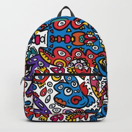 Graffiti Art Mandala of Life full of Creatures  Backpack