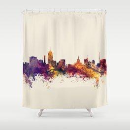 Lansing Michigan Skyline Shower Curtain