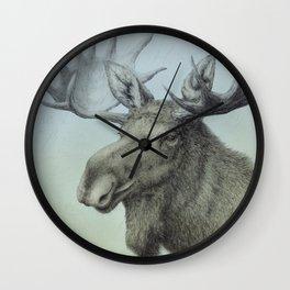 Moose, Elch, Elg Wall Clock