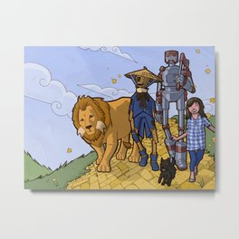The Wonderful Wizard of Oz Metal Print