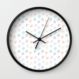 hedgehog pattern Wall Clock