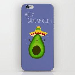 Holy Guacamole, avocado with sombrero iPhone Skin
