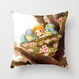 A Spring Scene Throw Pillow