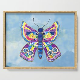 Butterfly I on a Summer Day Serving Tray