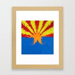 Arizona Flag Fluid Art Style 2 Framed Art Print