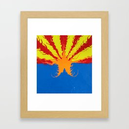 Arizona Flag Fluid Art Style 2 Framed Art Print