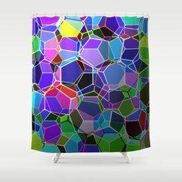 Geometric Genetics - Metallic, abstract, geometric pattern Shower Curtain