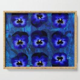 Deep Blue Velvet Serving Tray