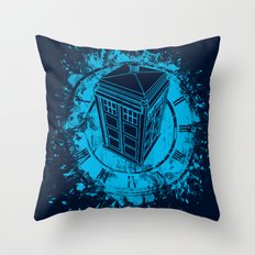 Tardis lost in space and time Throw Pillow