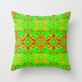 Roxbury (2 prints- 70's & 80's colors) Throw Pillow