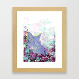 Lazy Kitty Framed Art Print