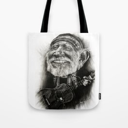 Willie Nelson Caricature Tote Bag