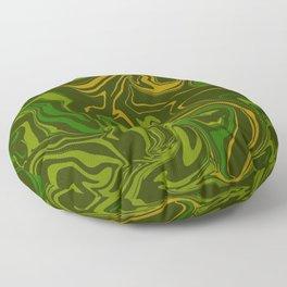 Army Camo Marble Melt Floor Pillow