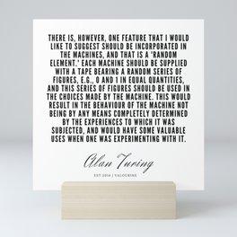 25    | Alan Turing Quotes  | 190716 | Mini Art Print