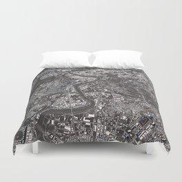 Rome city map Duvet Cover